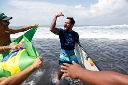Italo Ferrieira wins the World Surf League Bali Pro